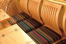 レトロ電車 : 座席のデザイン